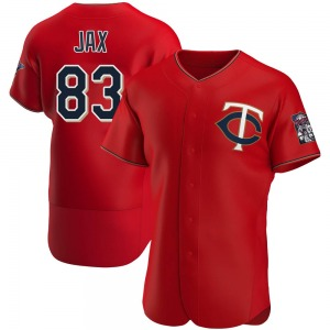 Men's Minnesota Twins Griffin Jax Authentic Red Alternate Jersey