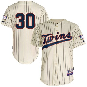 Youth Majestic Minnesota Twins Kennys Vargas Replica Cream Cool Base Alternate Jersey