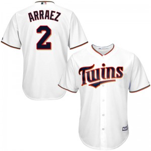 Men's Majestic Minnesota Twins Luis Arraez Replica White Cool Base Home Jersey